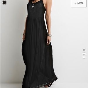 Embroidered boho maxi dress